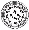 Схема расположения контактов герметичного разъема серии LP20