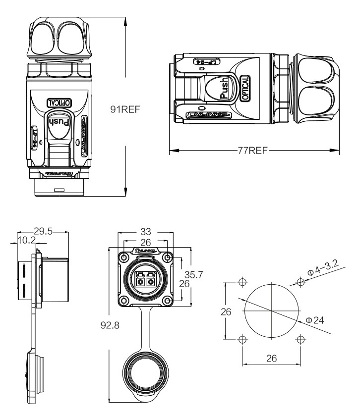 lc коннектор, lc разъем, герметичный lc коннектор