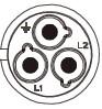 Схема расположения контактов герметичного разъема серии LP24