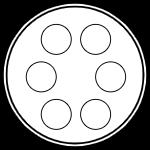 Герметичный разъем на 6 контактов