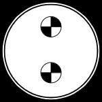 Герметичный разъем на 2 контакта
