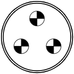 Герметичный разъем на 3 контакта