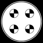 Герметичный разъем на 4 контакта