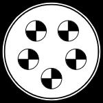 Герметичный разъем на 5 контактов