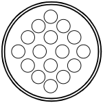 Герметичный разъем на 16 контактов