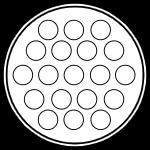 Герметичный разъем на 19 контактов