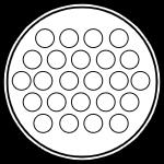 Герметичный разъем на 24 контакта