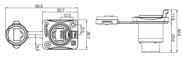 Герметичный коннектор RJ45