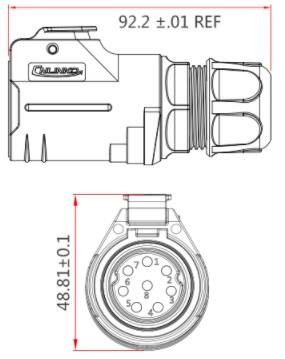 Силовая герметичная вилка LP28