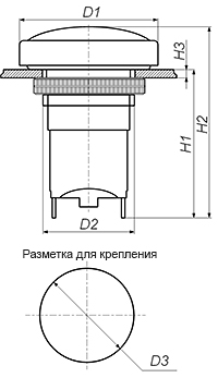 Кнопка К-3-1П