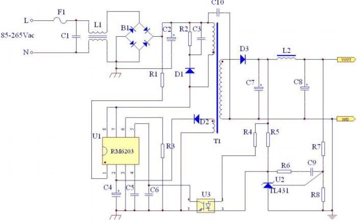 RM6203 микросхема
