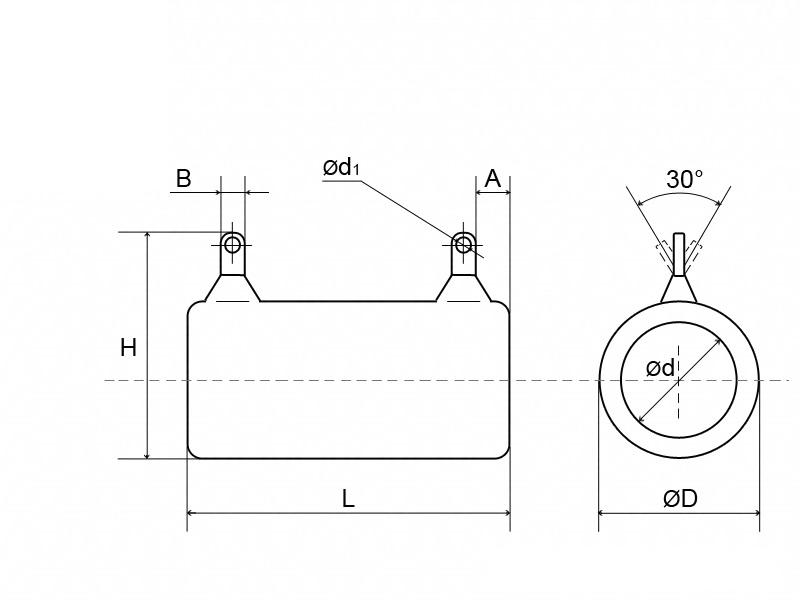 Габаритные размеры резисторов С5-35В